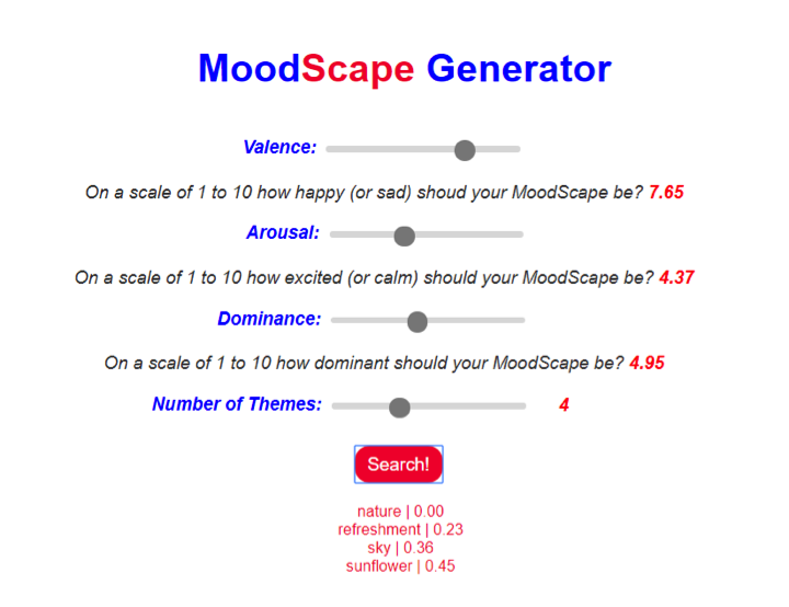 MoodScape Generator screenshot